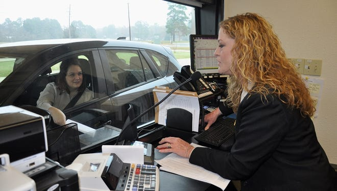 Bossier Parish residents are encouraged to pay their taxes at BPSO's drive-thru service.