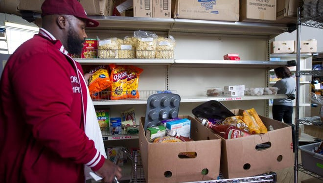 The pantry provides meat, produce and boxed and canned food. 3/12/16-Pat Barcas