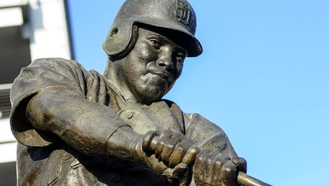 A statue of Tony Gwynn, Sr. at Petco Park, San Diego, June 26, 2014.