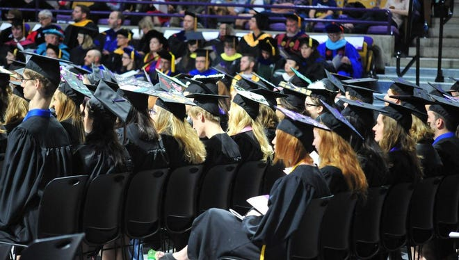 Scenes from the 10a.m. commencement ceremony at Western Carolina University on Sat. May 7th, 2016. To allow everyone to enjoy an indoor ceremony, WCU conducts 3 commencements.