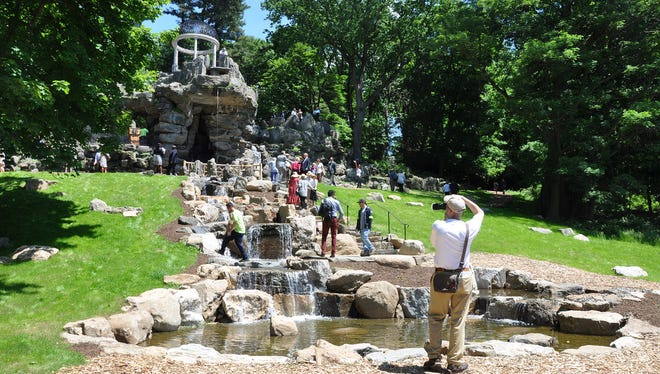 The newly renovated Temple of Love at Untermyer Gardens in Yonkers.