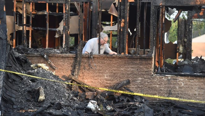 One person was injured in a fire in Newberry Township early Thursday morning.