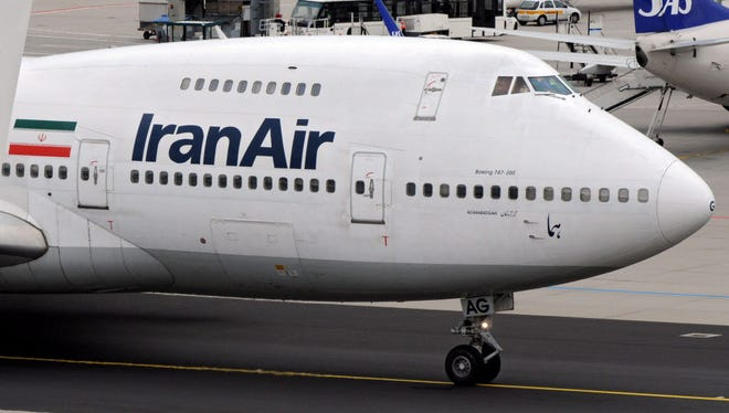 A file picture dated June 27, 2008, shows a Boeing 747 jumbo jet of Iranian carrier IranAir taxiing at Frankfurt airport, Frankfurt Main, Germany.