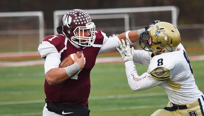 Wayne Hills QB Brendan DeVera, shown here during last week's first-round win over Roxbury, in which he threw four touchdown passes.