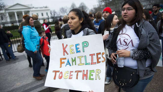 Immigration protest at the White House on Dec. 30, 2015.