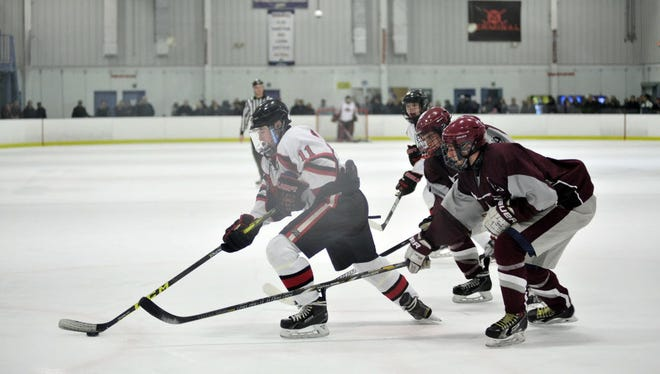Nutley hockey, here in a game against Lakeland last season, has an experienced core of players.
