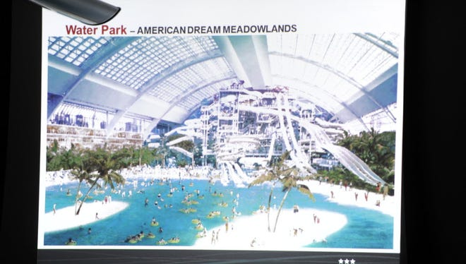 American Dream Miami, a cousin of the Meadowlands project, has a similar plan for a water park - shown here in 2013 - if the project gains government approvals.
