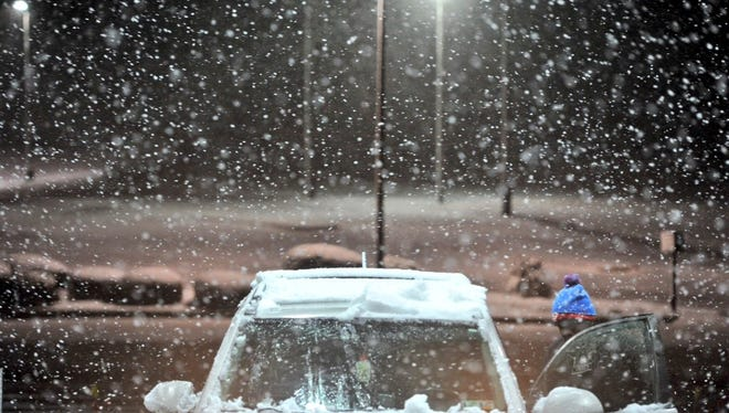 It's a steady hard snowfall. Please drive safe and leave enough time to get where you need to go.