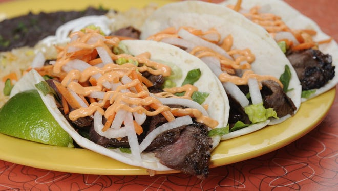 Korean beef tacos are one of the specialties at BelAir Cantina.
