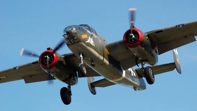 The Wings of Freedom Tour of the WWII Vintage Boeing B-17 Flying Fortress, Consolidated B-24 Liberator, North American B-25 Mitchell and P-51 Mustang will be at the Acadiana Regional Airport March 8-10.