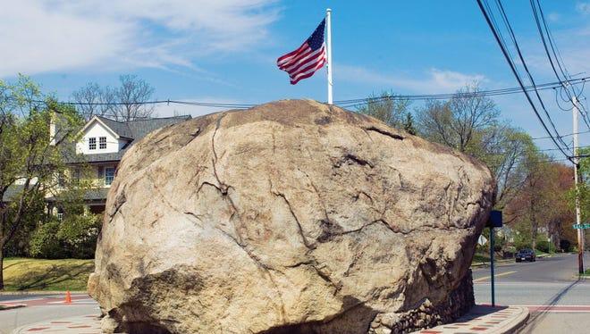 Glen Rock was named for this 520 ton glacial erratic boulder.