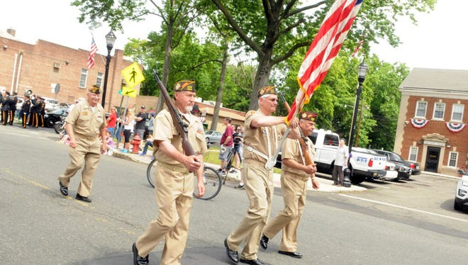 Nutley VFW Post 493 leads the 2016 Memorial Day Parade.
