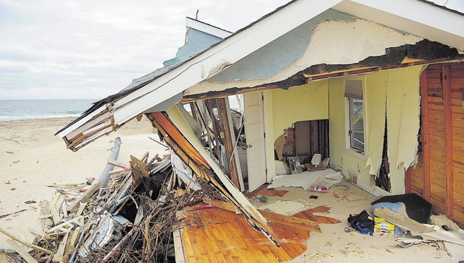 The destruction of Superstorm Sandy was still evident in Mantoloking in February 2013.