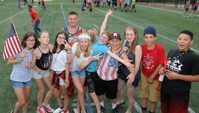 Nutley's youth are in high spirits, participating in Fourth of July activities at the Oval in 2016.
