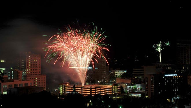 Asheville celebrates July 4th with fireworks and the Ingles Independence Day Celebration.