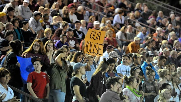 Scenes from Friday's Cherokee at Swain County football game, in Bryson City. Cherokee defeated Swain County, 45-7. MIKE RICE / Citizen-Times.