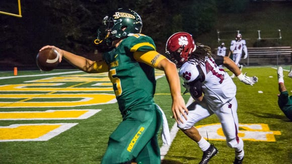 Scenes from Reynolds vs. Asheville on Oct. 13. The Rockets beat the Cougars 35-0.