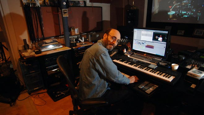 Larry Gates in his home recording studio in Fair Lawn in 2011.