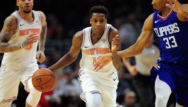 New York Knicks guard Frank Ntilikina has grown an inch and added 15 pounds since last season.