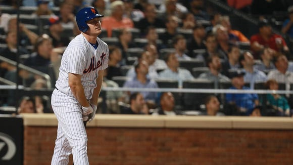 Jay Bruce is struggling in a Mets uniform. Tuesday night he was lifted for a pinch hitter.