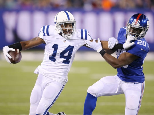 Colts WR Hakeem Nicks signed a 1-year deal with the Colts after a successful spell with the Giants.