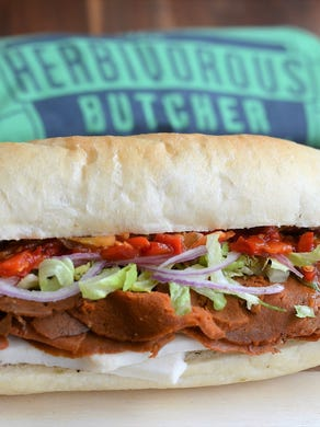 """One of the keys to their success is the realistic texture and flavors that appeal even to dedicated meat lovers. It's primarily a """"butcher shop,"""" but you can order hoagies such as the Italian, turkey with dill-havarati, or """"steak"""" to go."""