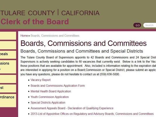 Clerk of the board webpage