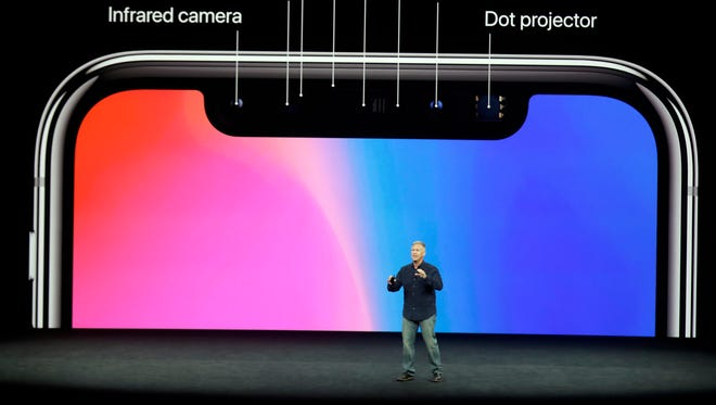 Phil Schiller, Apple's senior vice president of worldwide marketing talks about the new 'True Depth Camera System' in the iPhone X that allows facial recognition.