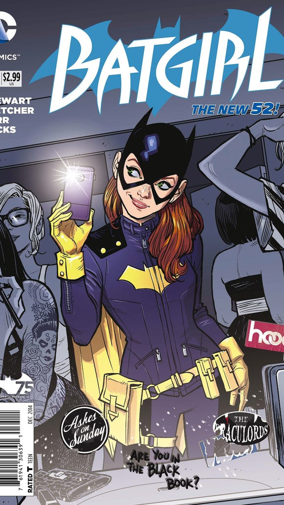 A look at the the cover of a 'New 52' edition of 'Batgirl.'