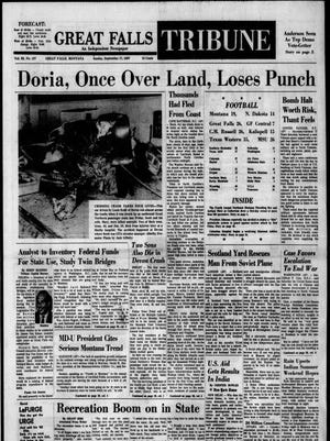 Front page of the Great Falls Tribune on Sunday, Sept. 17, 1967.