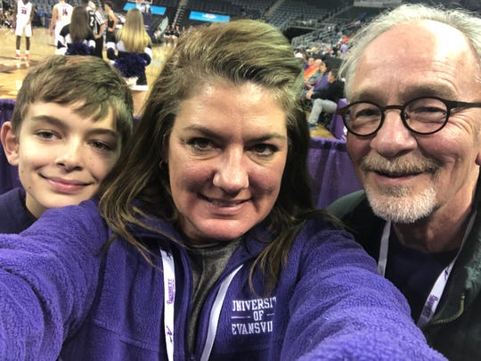 UE Victory –  It was close throughout the entire game but UE scored first and never lost the lead to the Missouri State Bears.  Among the cheering crowd were the Carlson family – Alex, Jami and David.