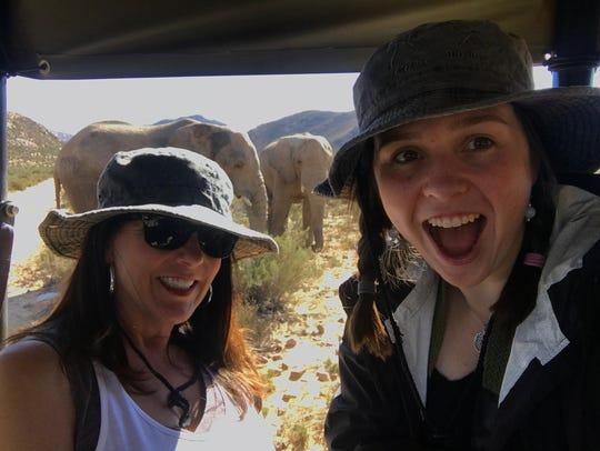 Chalene Braun (left) visited her daughter Kassie last