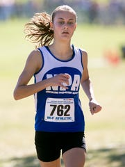 Flagstaff Northland Prep's Valentina Nyhart returns as the Division IV girls state champion. She won as a freshman last year.