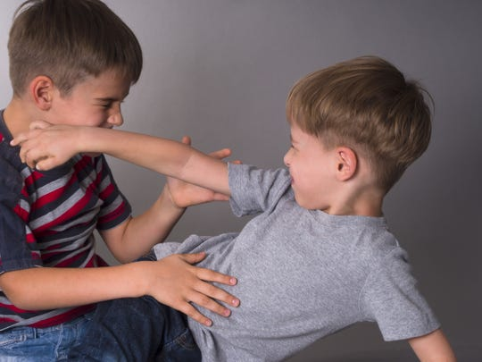 Sibling squabbles can get physical. Experts say parents have to step in before an argument escalates.