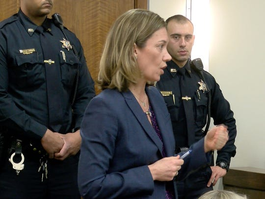 Monmouth County Assistant Prosecutor Meghan Doyle speaks