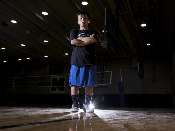 Mesquite High School boys volleyball player Brandon