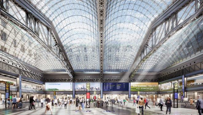 Rendering for the New Moynihan Tran Hall at New York City's Penn Station.