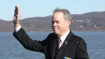 Ed Day makes the announcement that is running again for Rockland County Executive at Haverstraw Bay Park Feb. 20, 2017.