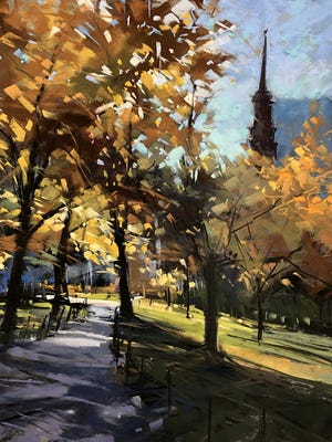 "Laurinda O'Connor won Best in Show for ""On a Fall Day."""