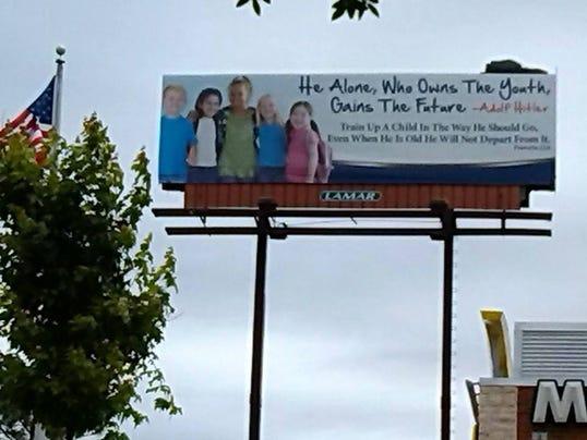 Hitler quote billboard