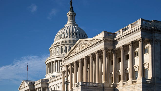 The Capitol in Washington DC as the government teeters on the brink of a partial shutdown.