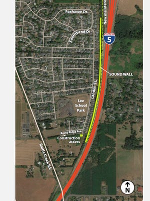 A new sound wall is being constructed along Interstate 5 in south Salem.