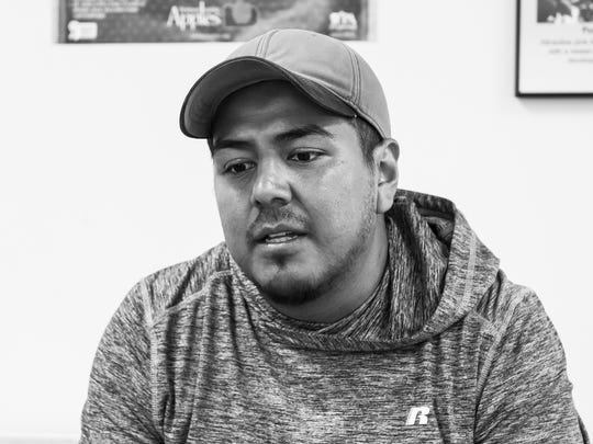 """Oscar Madeos, a farm worker at Hollabaugh Bros. since 2002, hails from Joquicingo, Mexico, which was hit by the Sept. 19 earthquake. Madeos's grandparents, uncles and cousins live there. """"They are my people,"""" Madeos said.""""That's my town. Part of me is there."""""""