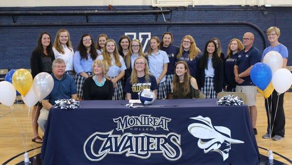 Gracie Hummert of Veritas Christian Academy has signed