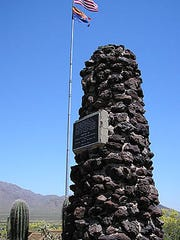 A memorial to Union Lt. James Barrett, who died at