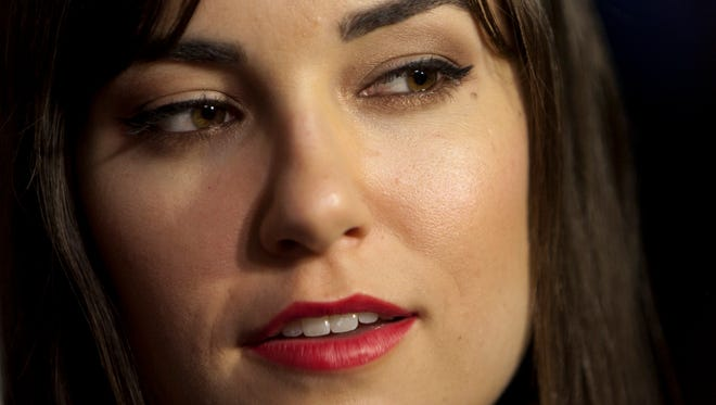 "Sasha Grey during the premiere of the film  ""Open Windows"" in Madrid, Spain."