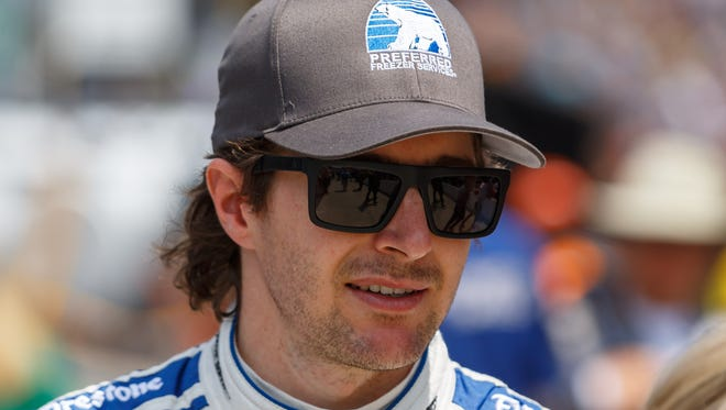 IndyCar Series driver J.R. Hildebrand during Carb Day for the Indianapolis 500 at Indianapolis Motor Speedway.
