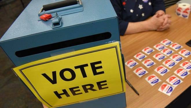 Election day at the Siouxland Libraries Downtown Library on Tuesday.