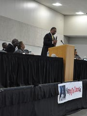 State Rep. Jeff Hall, D-Alexandria, was the featured speaker at the MLK Noon Day Celebration held Monday.