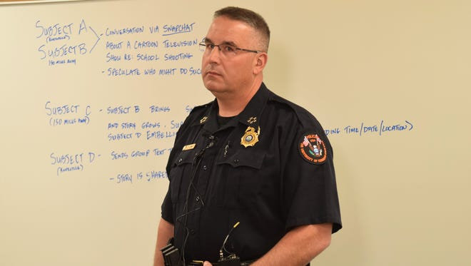 University of Tennessee Police Chief Troy Lane debunks false rumors of a potential shooting planned on campus on Monday, April 16, 2018.